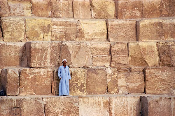 Granite Building Blocks : The great pyramid of giza