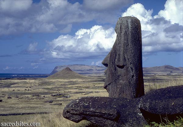 The Moai statues of Rapa Nui