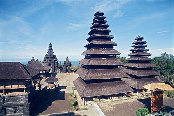 The Temple of Pura Besakih on the slopes of Mt. Agung