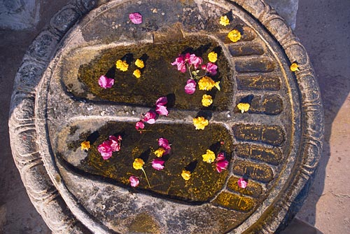 Impression of Buddha feet, Bodh Gaya