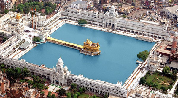 golden temple aerial view