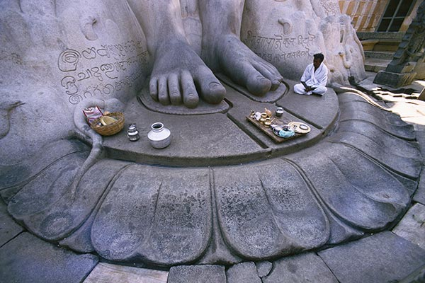 The Holy Feet of the Sri Gomatheswar statue, Shravanabelagola