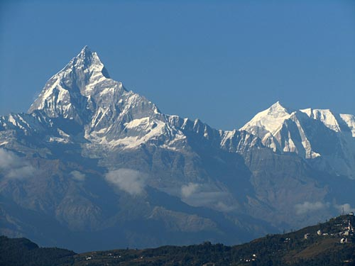 Mountain View from Peace Pagoda, Pokhara