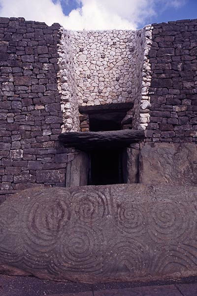Entrance to Newgrange Megalithic Cair