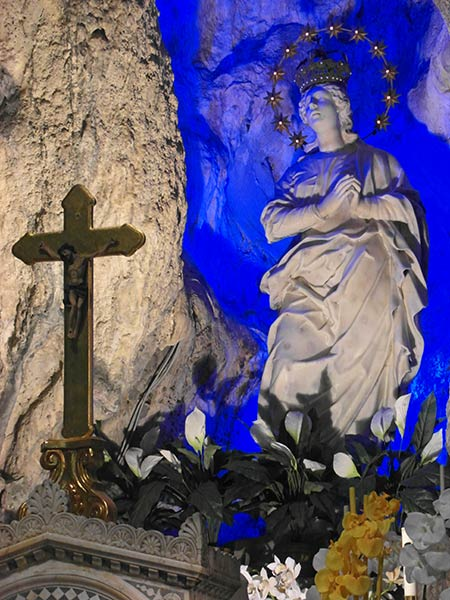 sicily palermo santuario santa rosalia montepellegrino mary with blue light