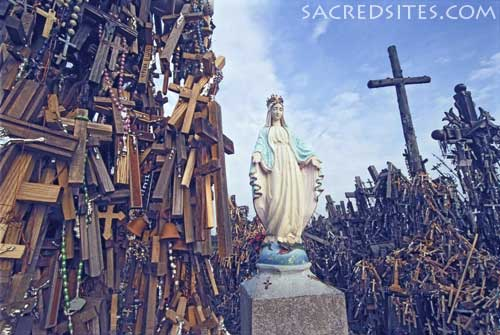 hill of crosses mary statue 500