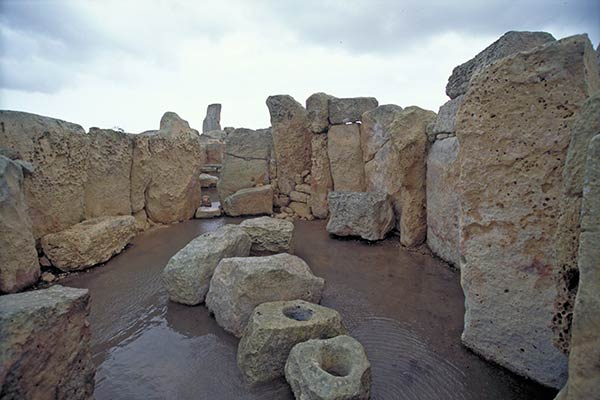 Neolithic temple of Hagar Qim, Island of Malta