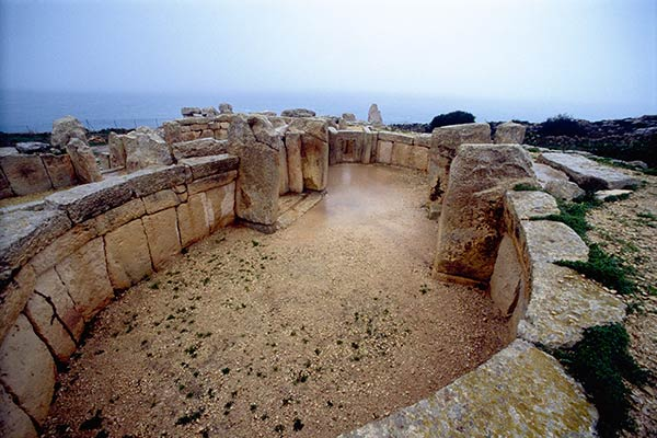 Neolithic temple of Mnajdra, Island of Malta