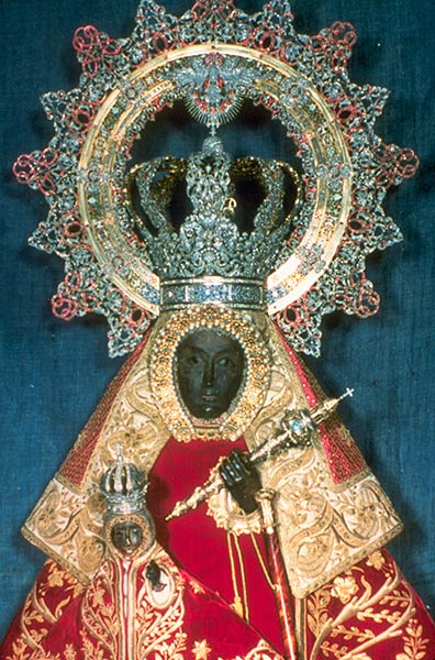 The Black Madonna statue of Guadalupe, Spain