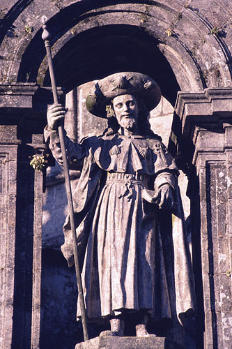 Statue of St. James the Elder, Cathedral of Santiago de Compostela, Spain