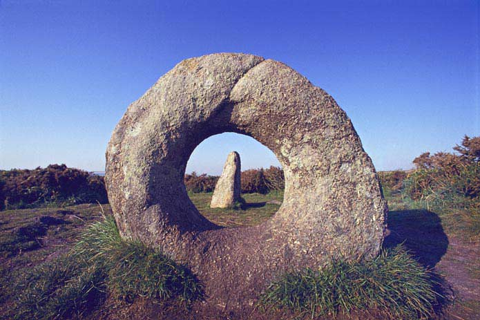 Men-an-Tol Megalithic stone, Cornwall, England
