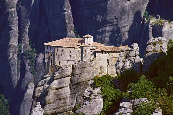 Greek Orthodox monastery of Rousanou, Meteora, Greece
