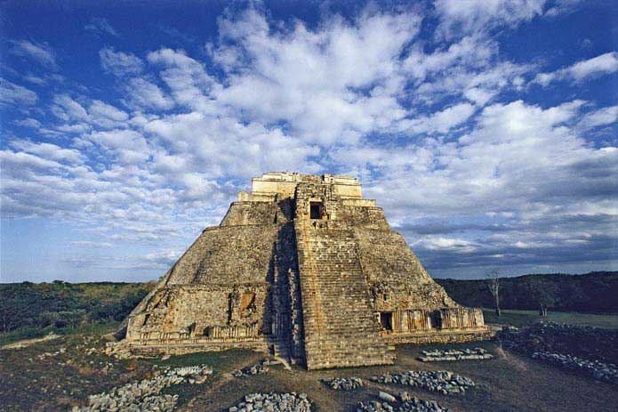 The Pyramid of the Magician, Uxmal, Yucatan, Mexico