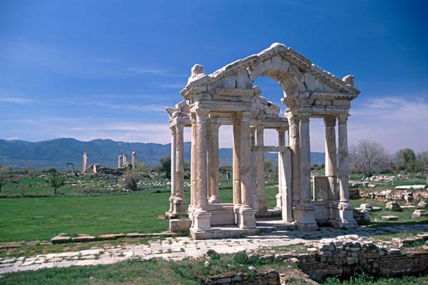 Gateway to the temple of Aphrodite, ruins of Aphrodisias