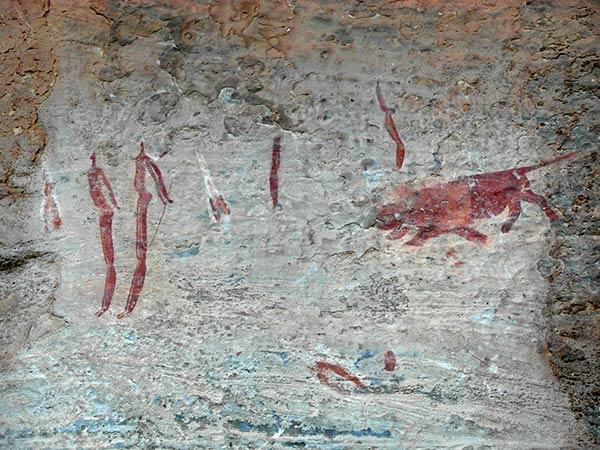 हा बरसाना गुफा पेंटिंग