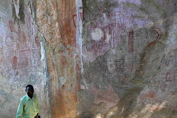 Наскальная живопись Mphunzi, область наскального искусства Chongoni