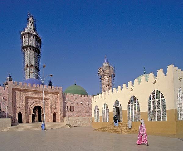 A, mesquita, de, Touba, senegal