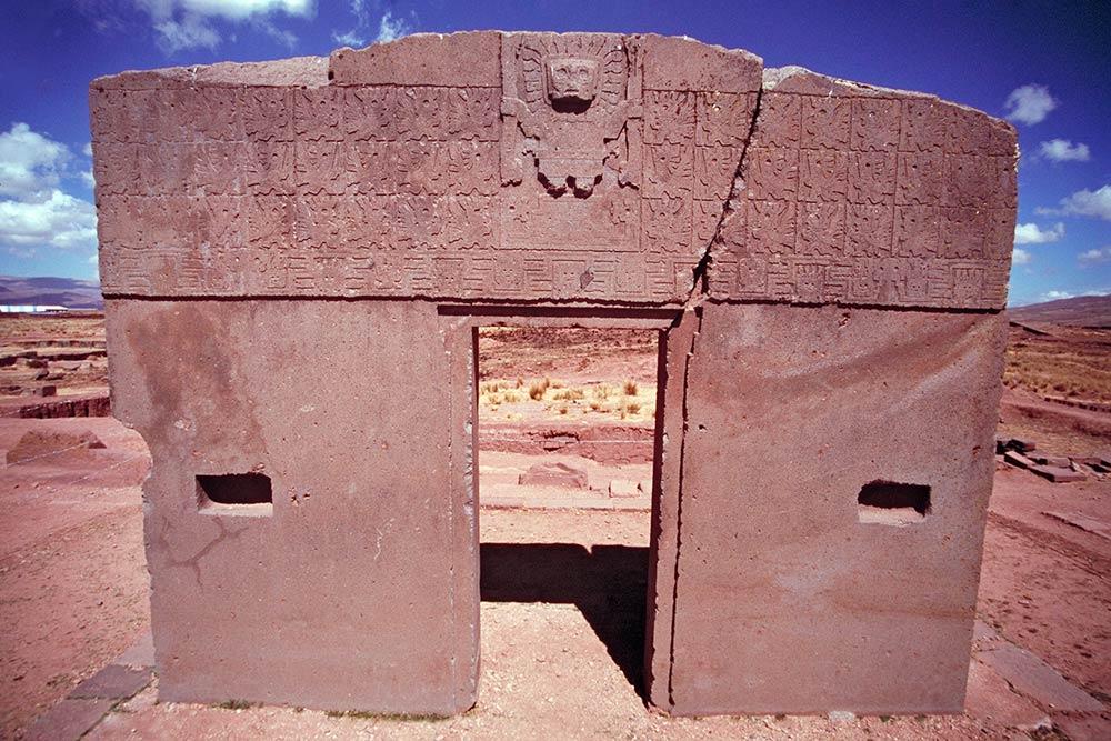Zugang der Sonne, Kalasasaya-Tempel, Tiahuanaco