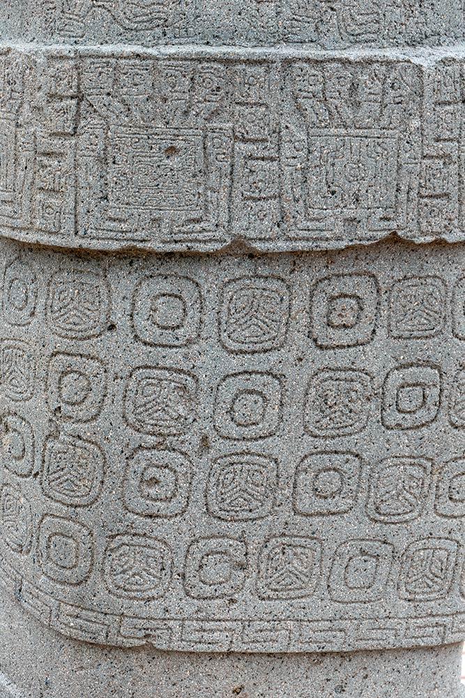 Schnitzereien auf der Seite der Stele 8, Kalasasaya-Tempel, Tiahuanaco