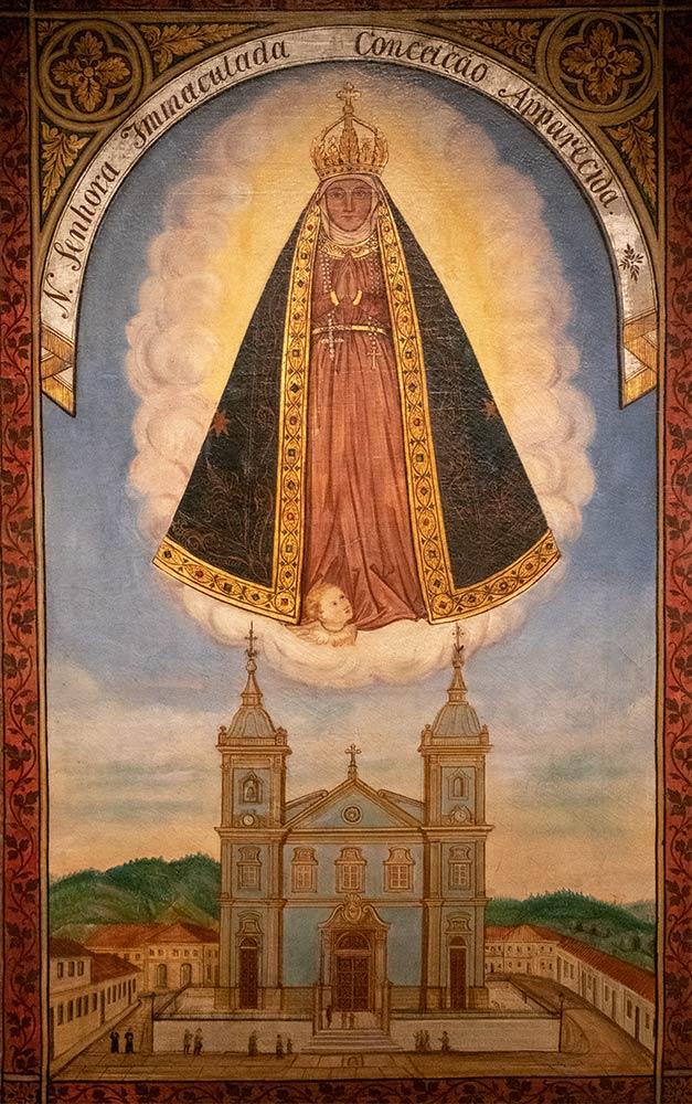 Gemälde Unserer Lieben Frau von Aparecida, Basilika des Nationalheiligtums Unserer Lieben Frau von Aparecida, Aparecida