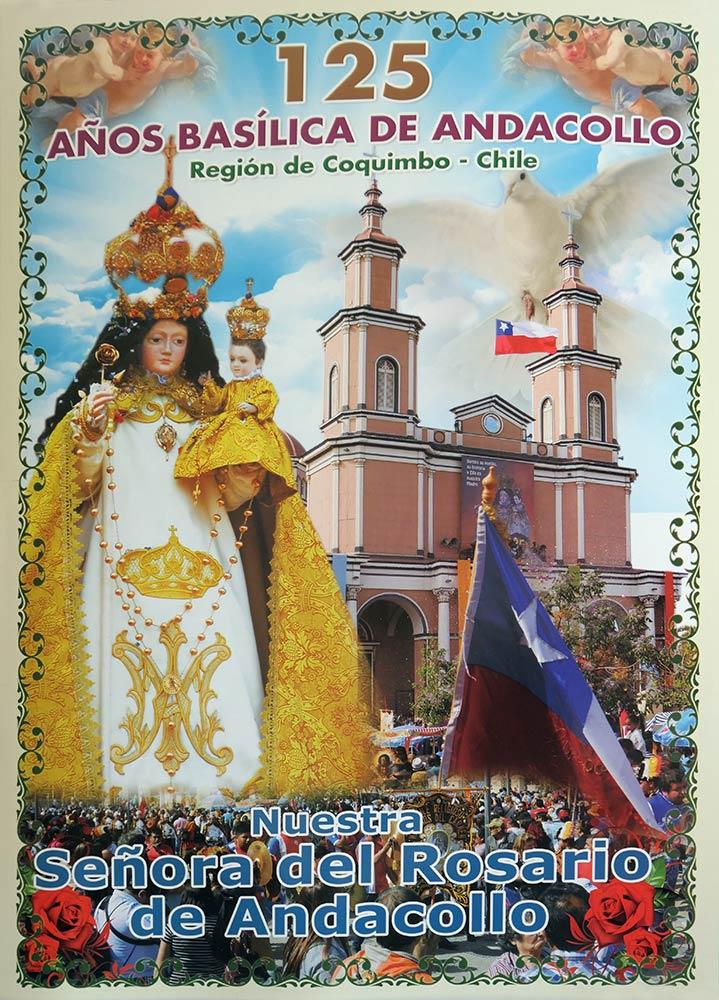 Plakat der Basilika, Basilika von Andacollo, Andacollo
