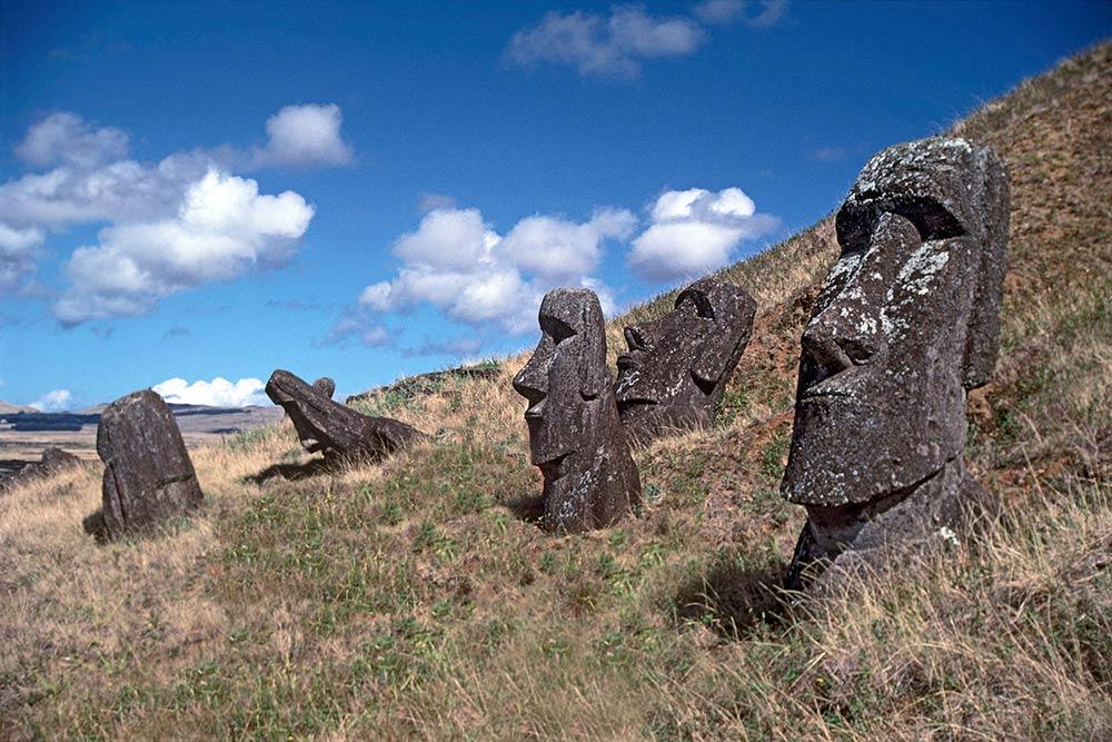 Каменные головы - Моаи - Остров Пасхи