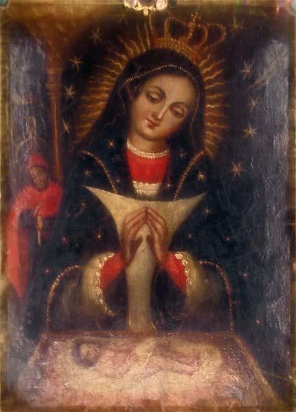 peinture higuey vierge d'altagracia