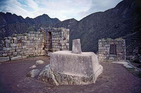 La piedra Intihuatana, Machu Picchu
