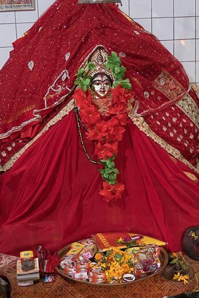 Statue der Göttin Bhabani, Bhabanipur Shakti Pitha