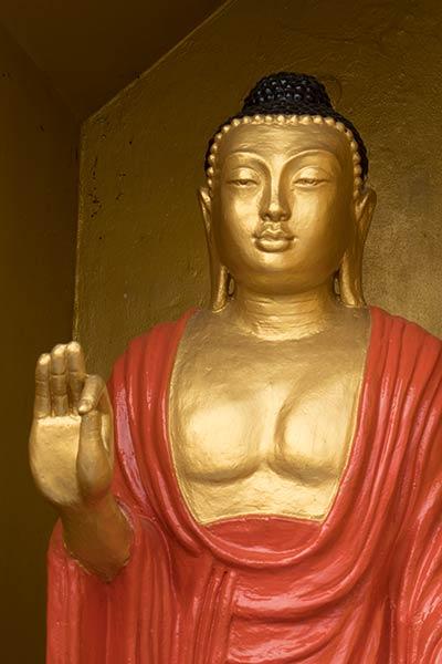 Статуя Будды с Витарка Мудрой, храм Будды Дхату Джади