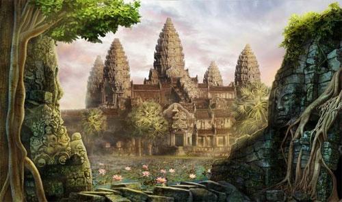 Angkor Wat Malerei