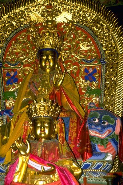 Statue de Bodhisattva Manjoushri, Wu Tan Shan, Chine