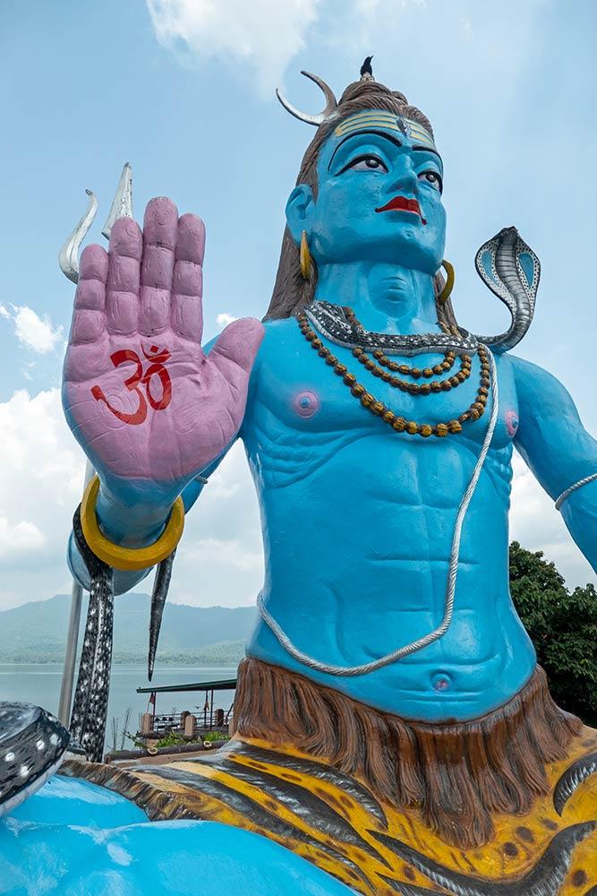 Große Statue von Shiva bei Baba Garib Nath Temple, Raipur Maidan