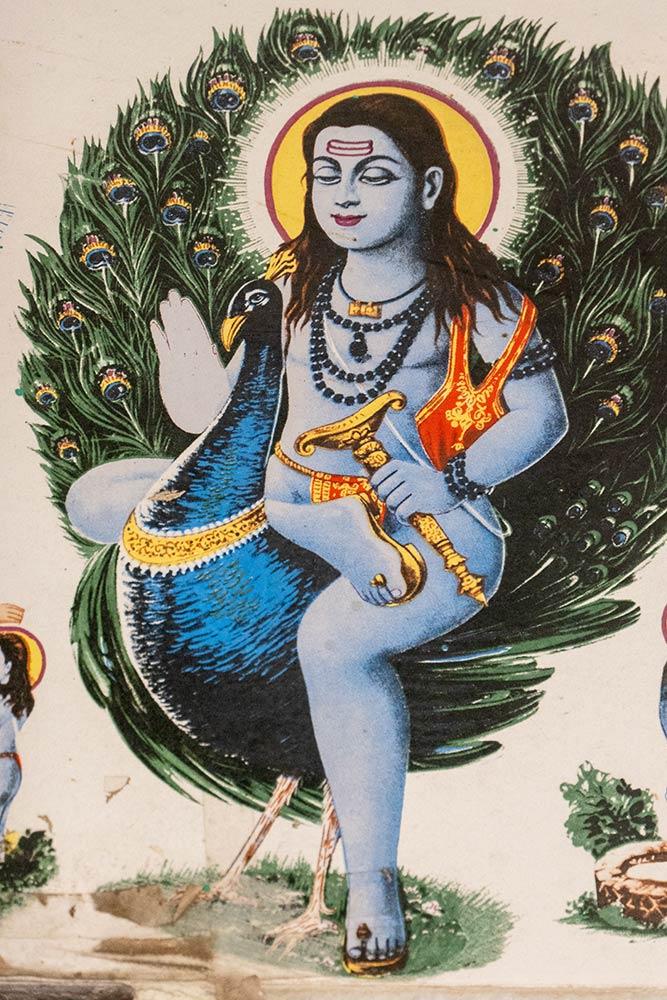 Gemälde von Baba Garib Nath, Baba Garib Nath Tempel, Raipur Maidan