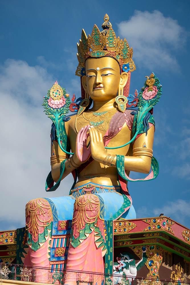 बोधिसत्व मंजुश्री की बड़ी प्रतिमा, डिस्कित गोम्पा