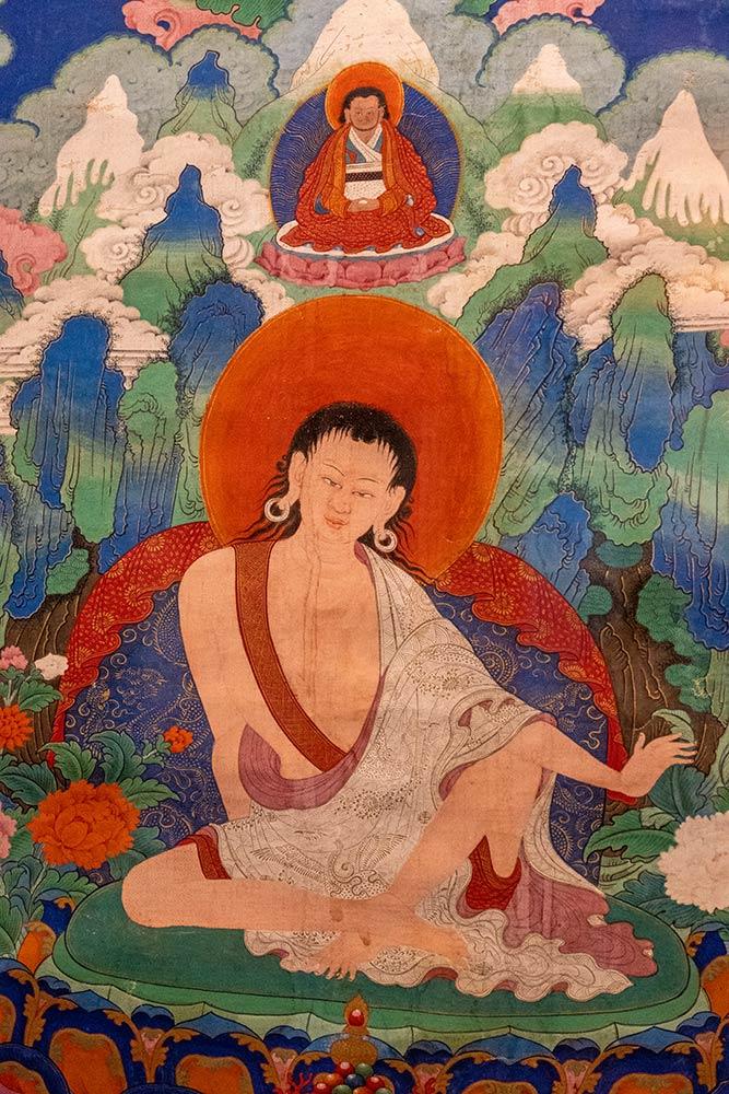 Hemis Gompa, Gemälde von Milarepa, Hemis Museum