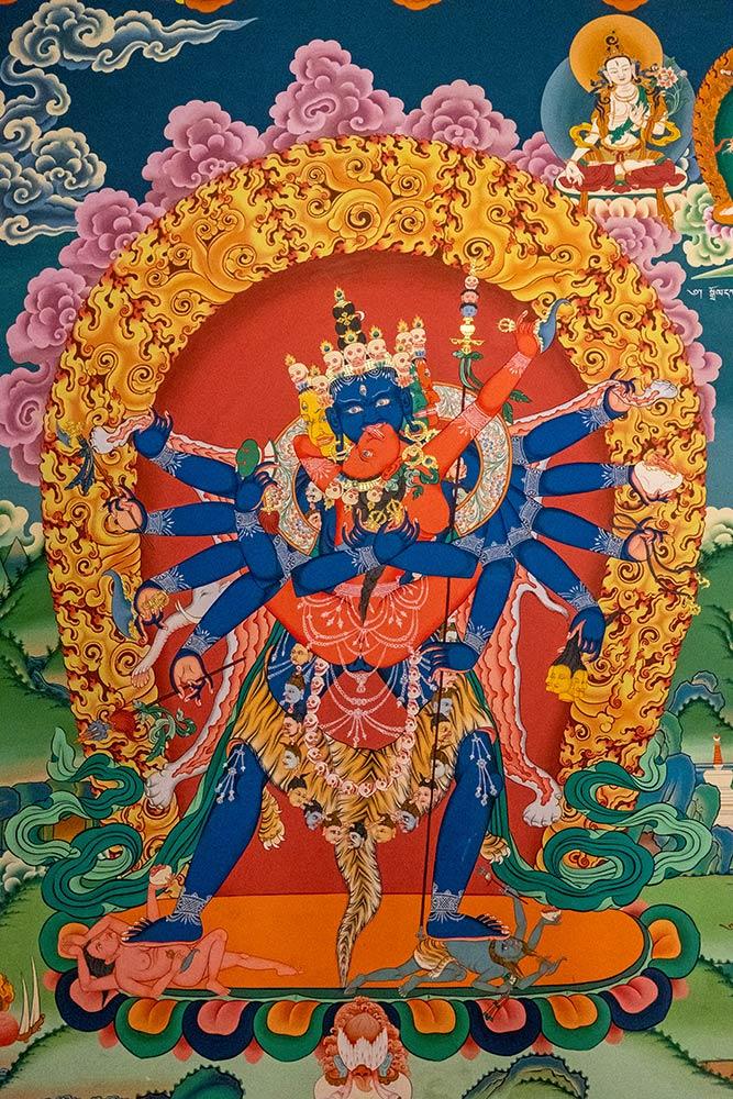 Gemälde von Chakrasamvara, Chemrey Gompa