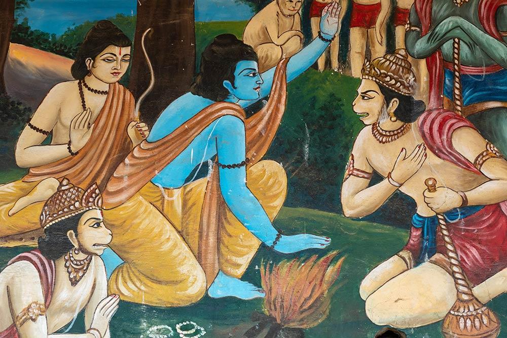 Живопись Рамы и Ханумана, Храм Ханумана Гадди, Наимишараня