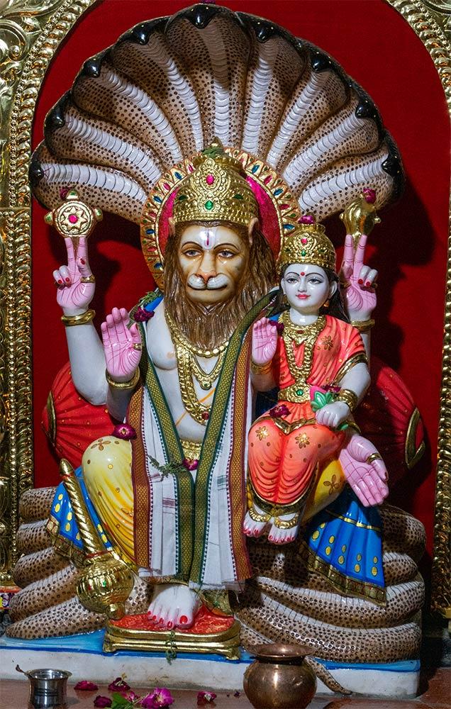 Статуи Нарасимхи и Лакшми, Шакти Дхам, Наимишараниа