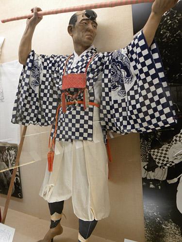 Haguro San, Statue eines Yamabushi im Museum