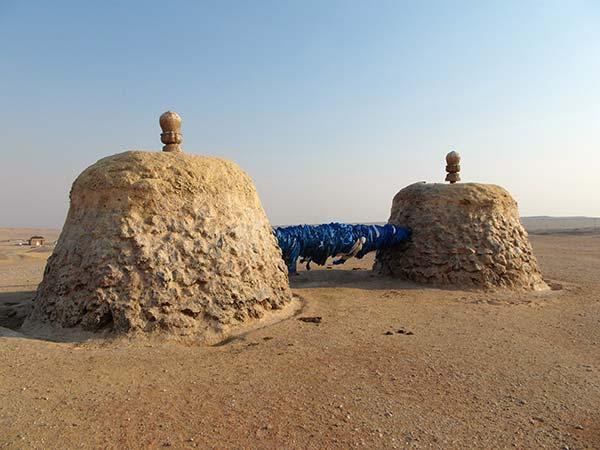 Schamanischer Schrein nahe buddhistischem Kloster Hamrin Hiid
