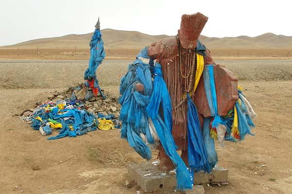 Statue der schlagenden Trommel des mongolischen Medizinmanns