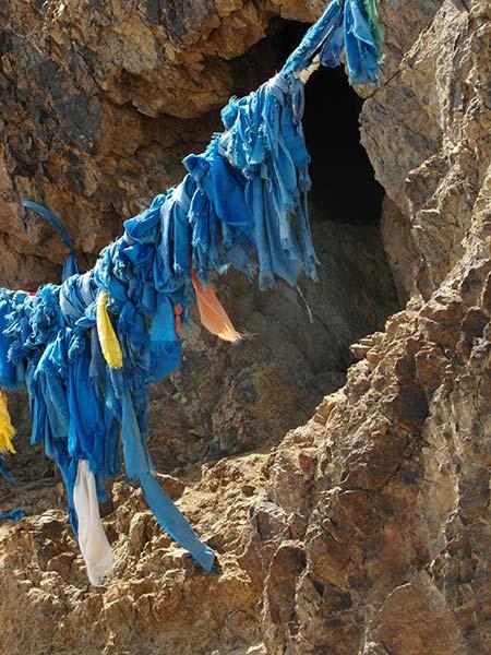 Schamanische Höhle im buddhistischen Kloster Ulgil Hiid