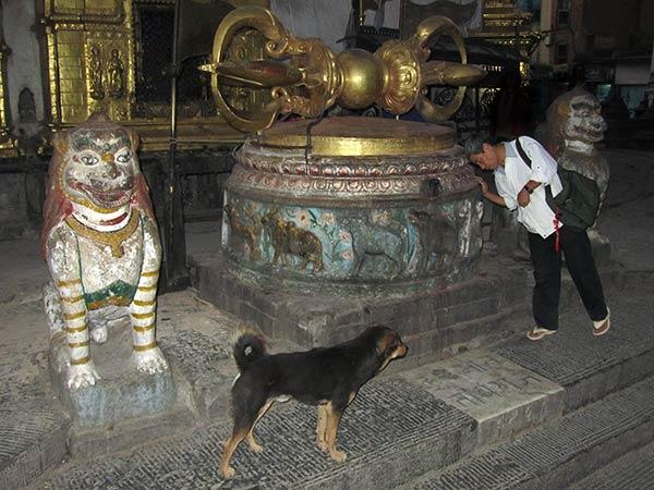 Dorje à Swayambhunath Stupa, Katmandou, Népal