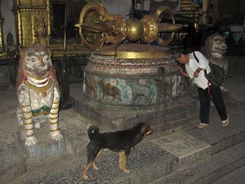 Dorje at Swayambhunath temple, Kathmandu, Nepal