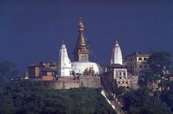 Colline sacrée et stupa de Swayambhunath, Katmandou, Népal