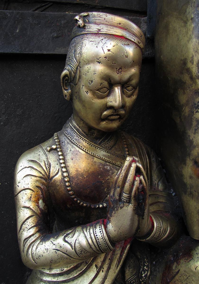 Statue en bronze à Stupa de Swayambhunath