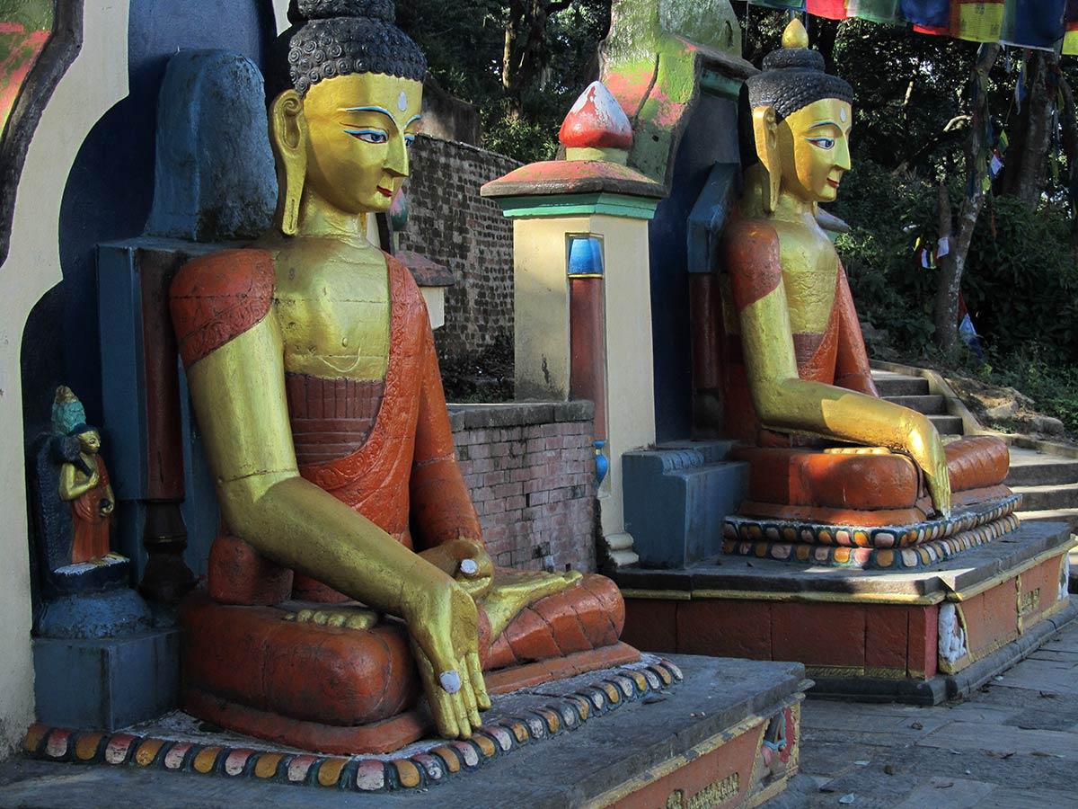 Statues de Bouddha, Stupa de Swayambhunath