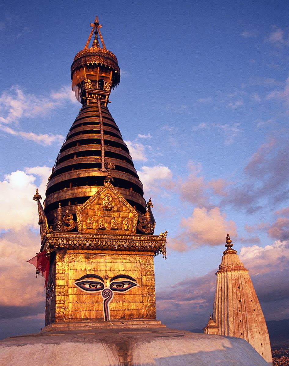 Stupa Swayambhunath à Katmandou, Népal