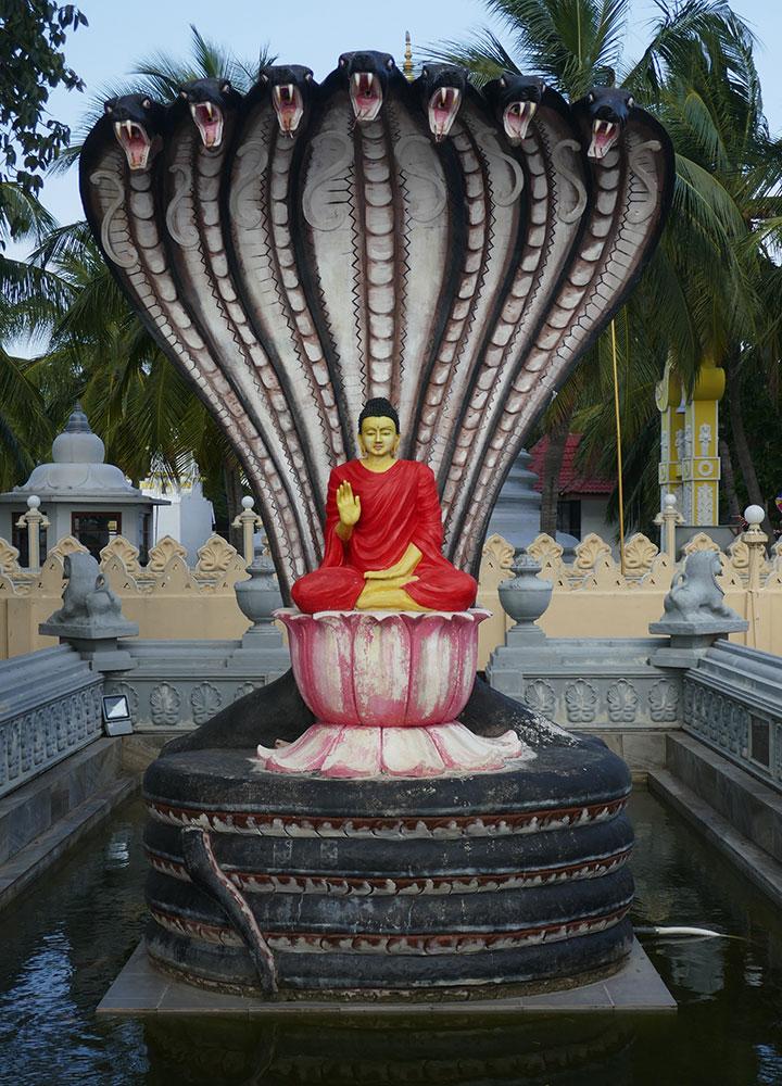 Bouddha avec nagas, Nagapeepa Purana Rajamaha Viharaya, Nainathevu